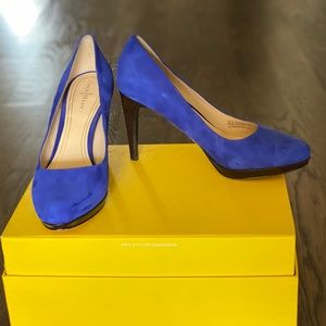 Cole Haan Chelsea Blue Suede Pumps Nike Air size 8